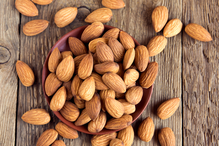 almonds healthy office snack