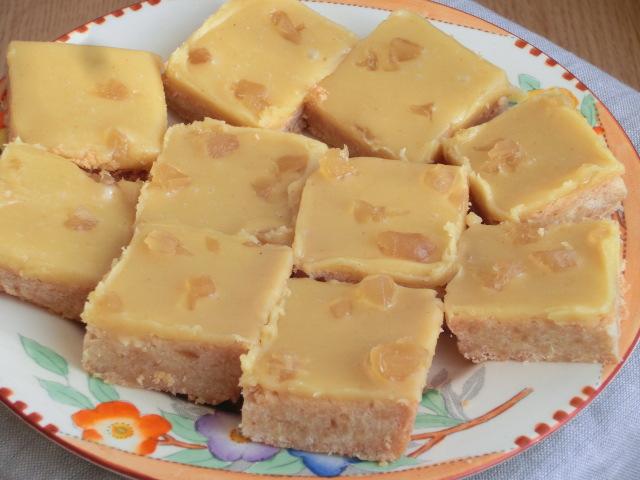 Ginger Shortbread Squares