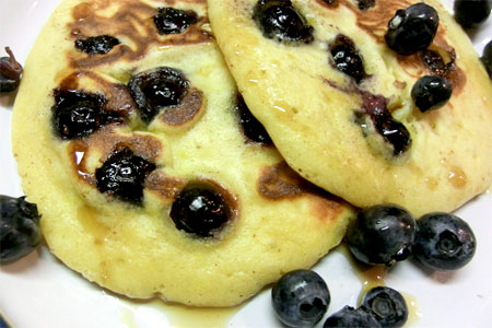 Blueberry and Lemon Pancakes