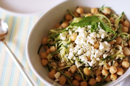 Chickpea, Barley and Zucchini Salad