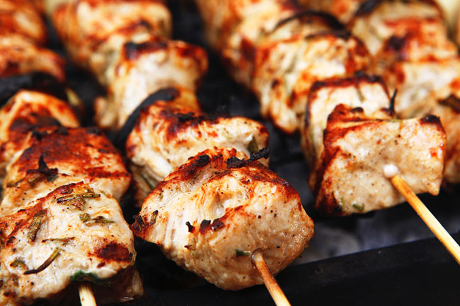 Chicken Kabobs with Peanut Sauce