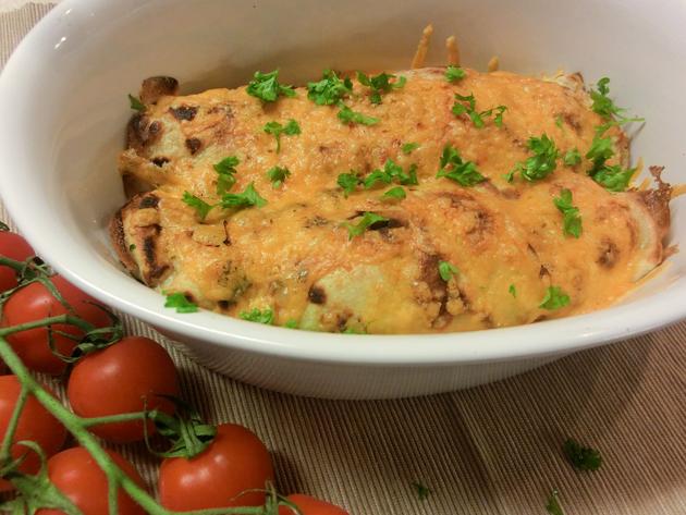 Chicken, Mushroom and Leek Pancakes