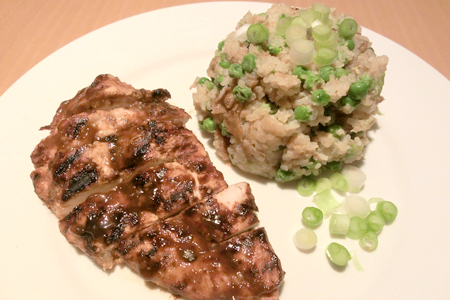 Hoisin chicken with egg fried rice