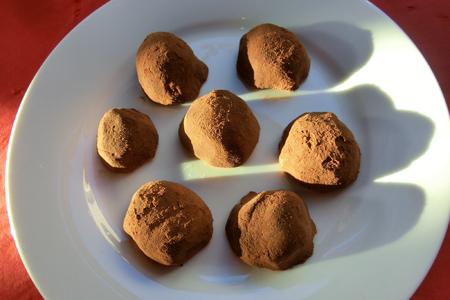 Milk chocolate peppermint truffles