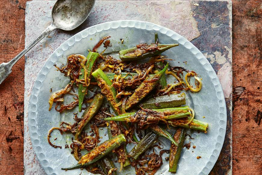 Spicy Stuffed Okra