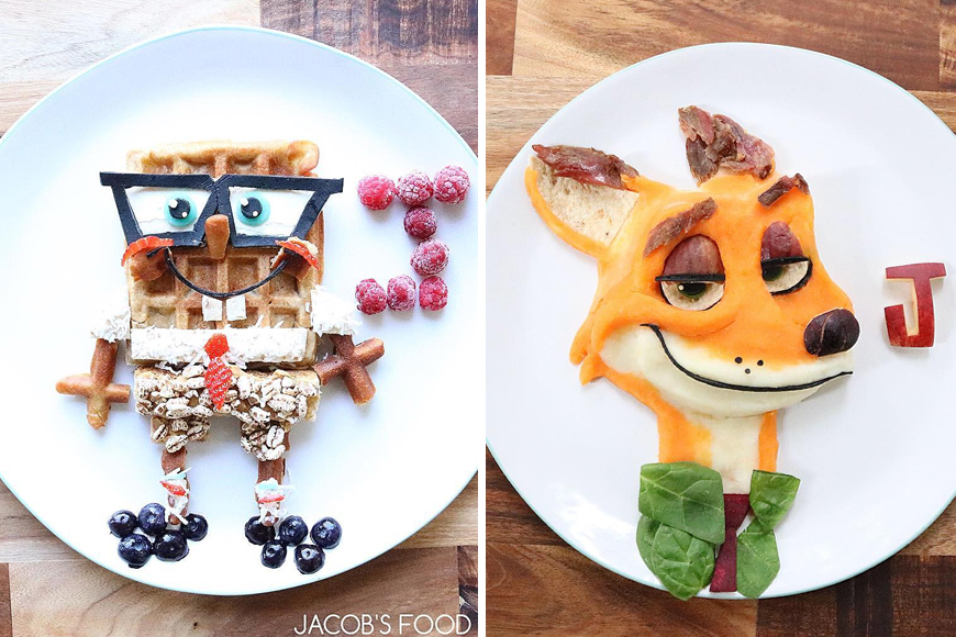 Cartoon Inspired Kid's Food