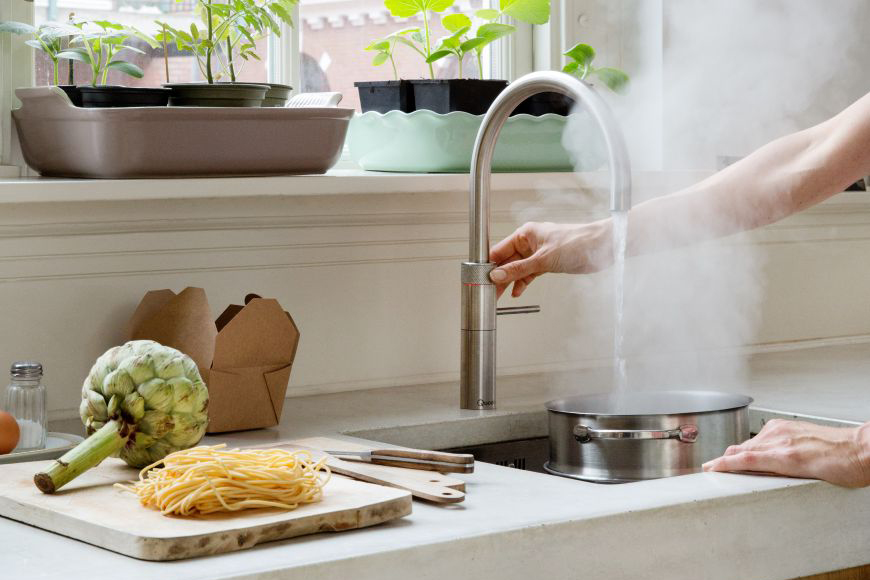 Cooking with Quooker is easy, fast and safe for your family