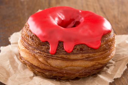 Cherry Glazed Cronuts