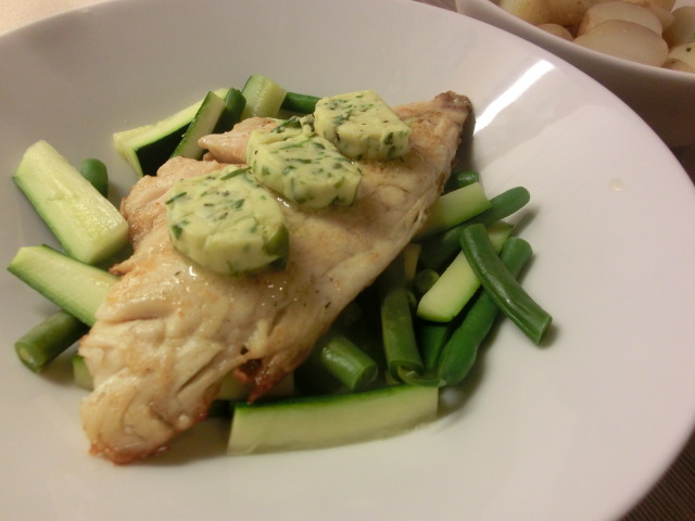Pan Fried Sea Bream with Lemon and Herb Butter