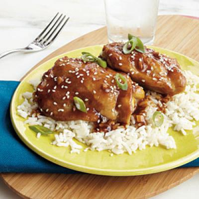 Slow Cooked Sesame Ginger Chicken