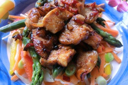 Hot Honey Chicken Salad