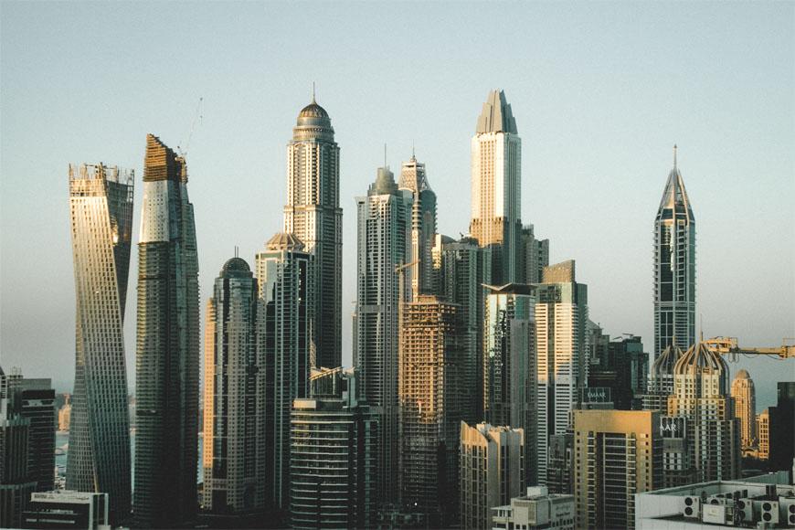 Dry night in Dubai and UAE