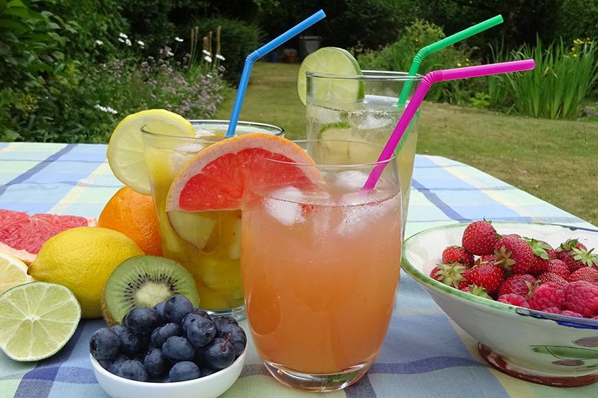 Healthy fruit mocktails