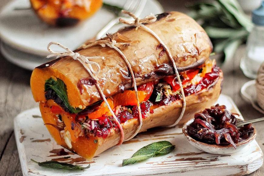 Vegan Stuffed Squash Roast