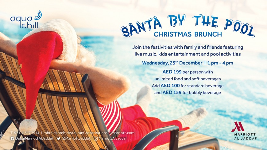 Christmas brunch at Aqua Chill