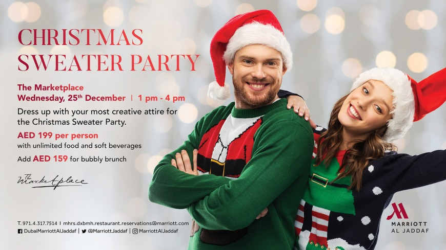 Festive sweater party at The Marketplace