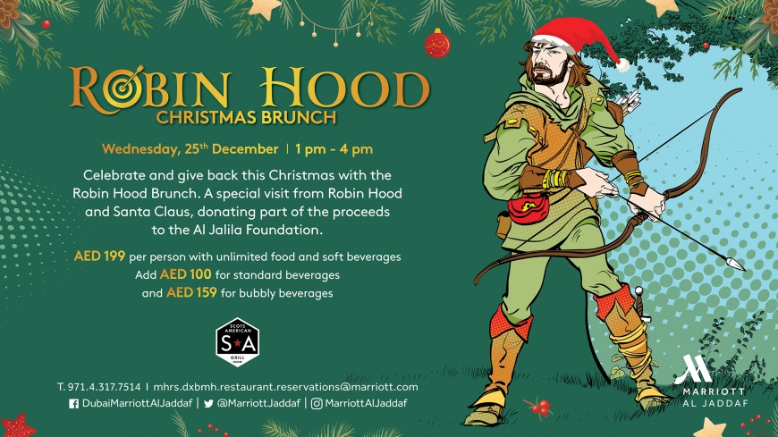 Robin Hood Christmas brunch at Scots American Grill