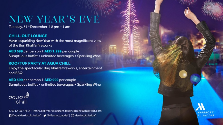 Celebrate New Year's Eve at Aqua Chill