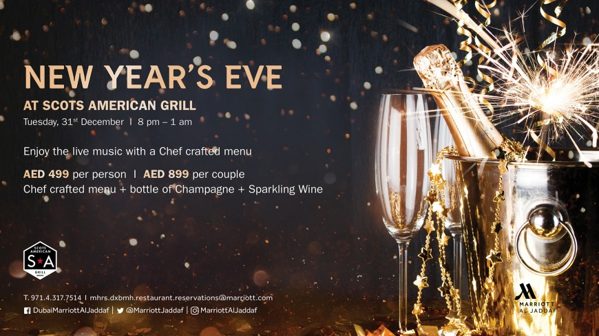 Celebrate New Year's Eve at Scots American Grill