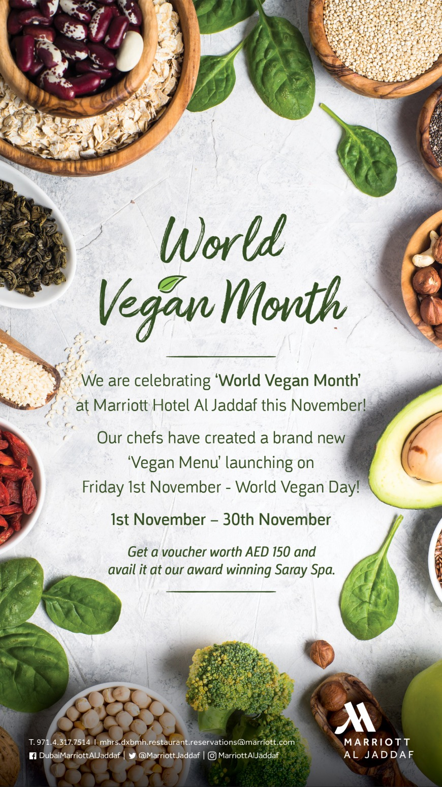 Marriott Hotel al Jaddaf World Vegan Month