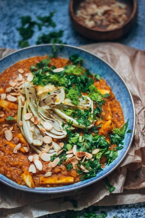 Vegan Fennel And Parsnip Tarka Dal
