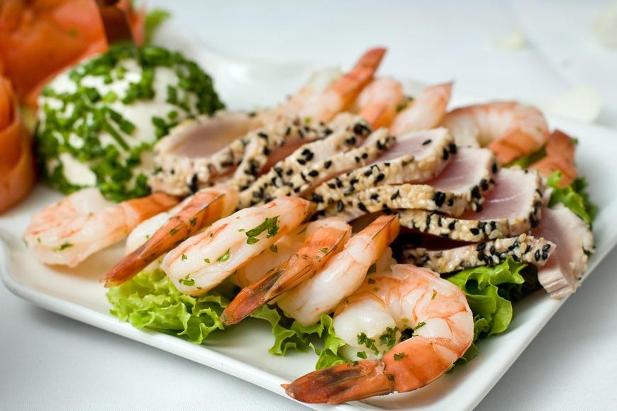 Seafood platter blast.