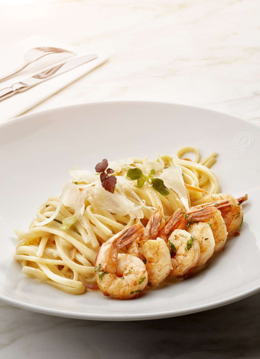 Seared Prawn Linguine