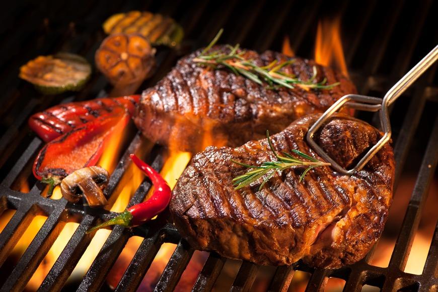 A classic steak dinner.