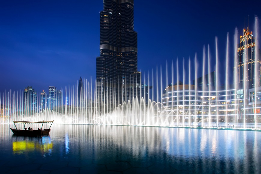Dinner overlooking Dubai Fountain deal