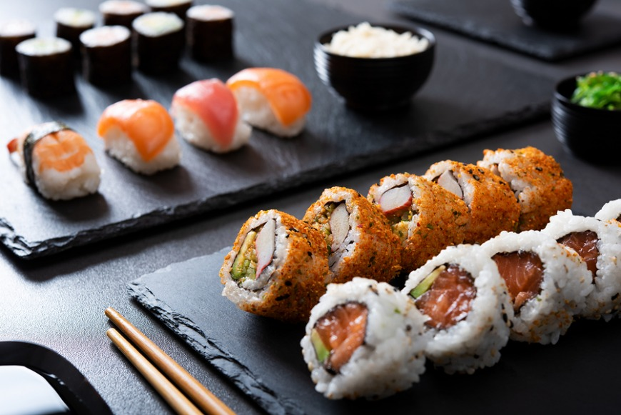 All-you-can-eat sushi and sashimi