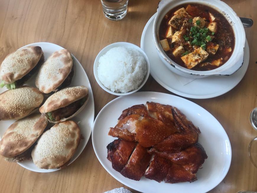 Peking duck buns