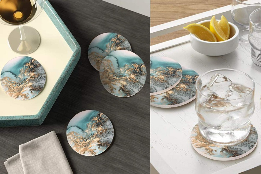 Marble Pattern Coasters