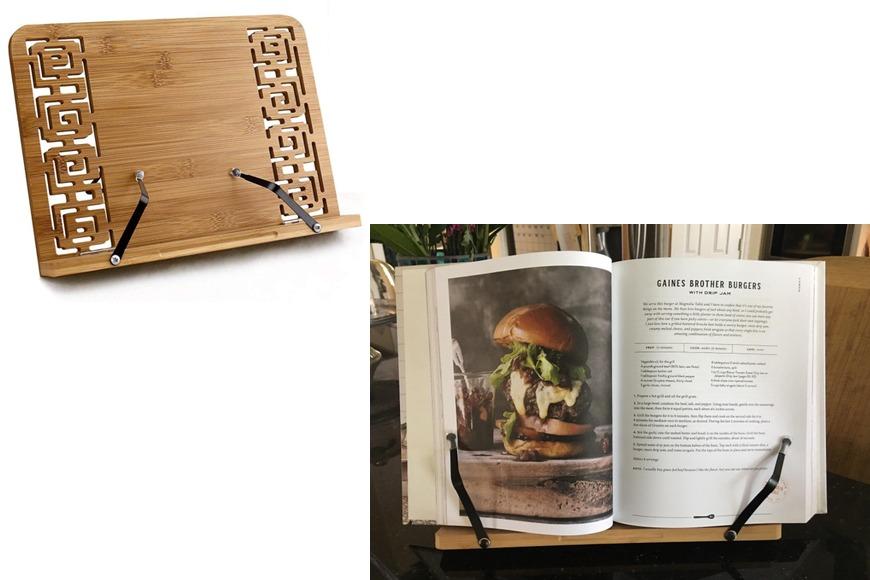 Bamboo cookbook holder