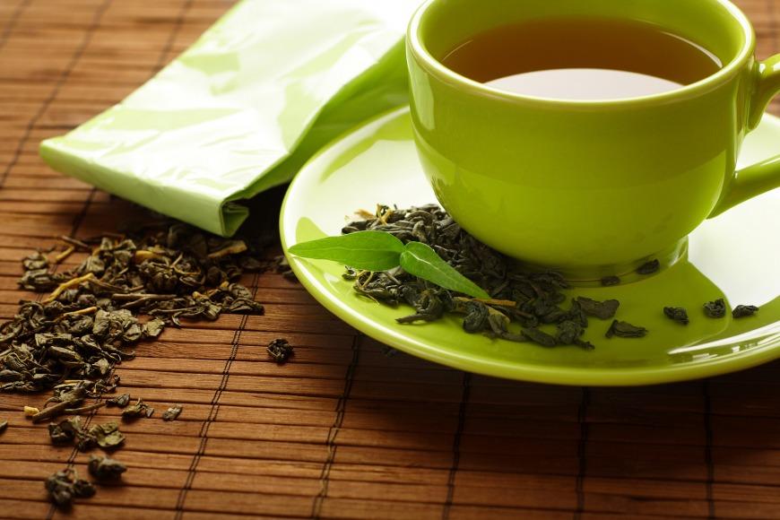 Healthy cup of green tea