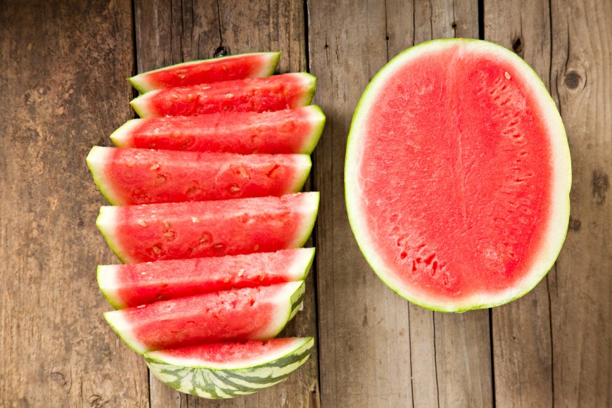 Watermelon hydrating food