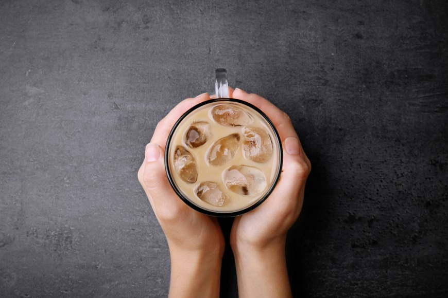 High-protein iced coffee