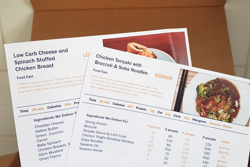 Review of Let's Cook meal plans in Dubai