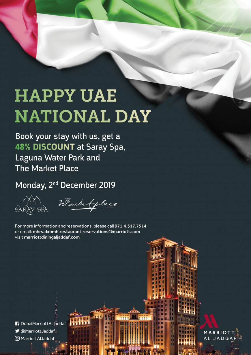Marriott al Jaddaf UAE National Day 2019 offer