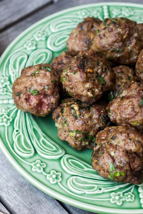 Cumin Lamb Meatballs With Tahini Yogurt Dipping Sauce