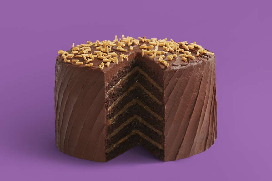 Mile High Chocolate Salted Caramel Cake