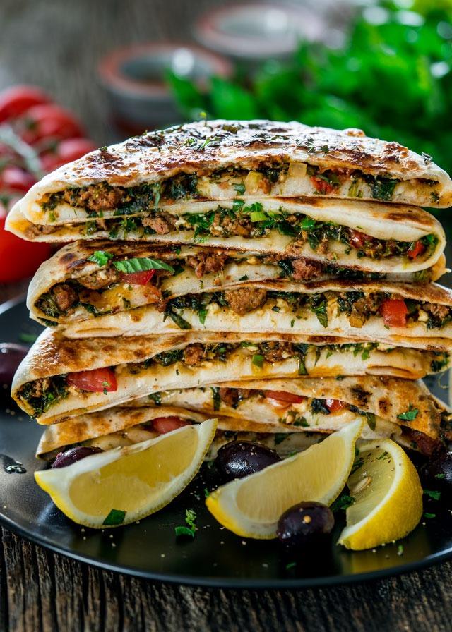 Turkish Gozleme with Minced Lamb