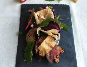 Beetroot and Aubergine Fattoush Salad