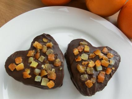 Chocolate and Orange Brownie Hearts