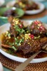 Lamb Shanks With Pomegranate and Saffron