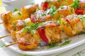 Lynn's Lemony Marinated Lamb Kebabs