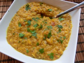Red lentil and tomato dal