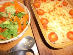 Vegetarian cottage pie with smoked cheese