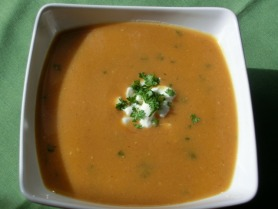 Roasted Butternut Squash and Potato Soup