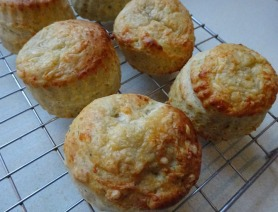 Cheese, Mustard and Chive Scones