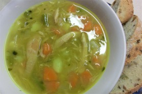 Simple turkey soup